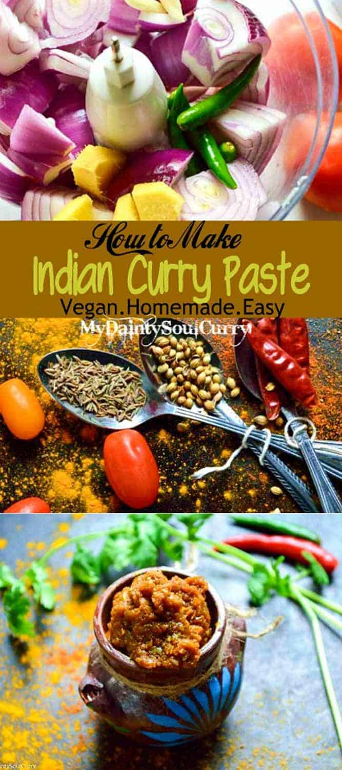 Indian curry paste, homestyle curry paste #vegan #easycurry