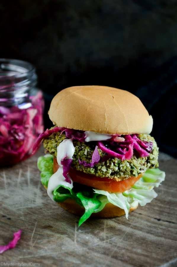 spicy lentil veggie burger