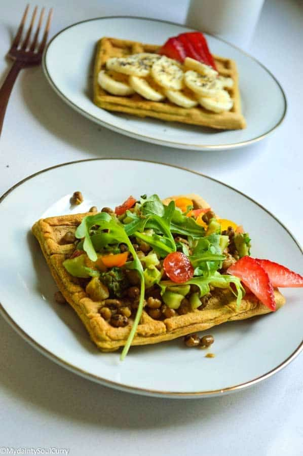 ffle and Sweet chickpea waffle