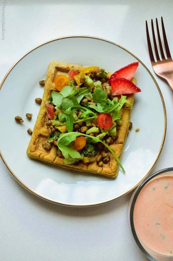 Savory Masala Waffle