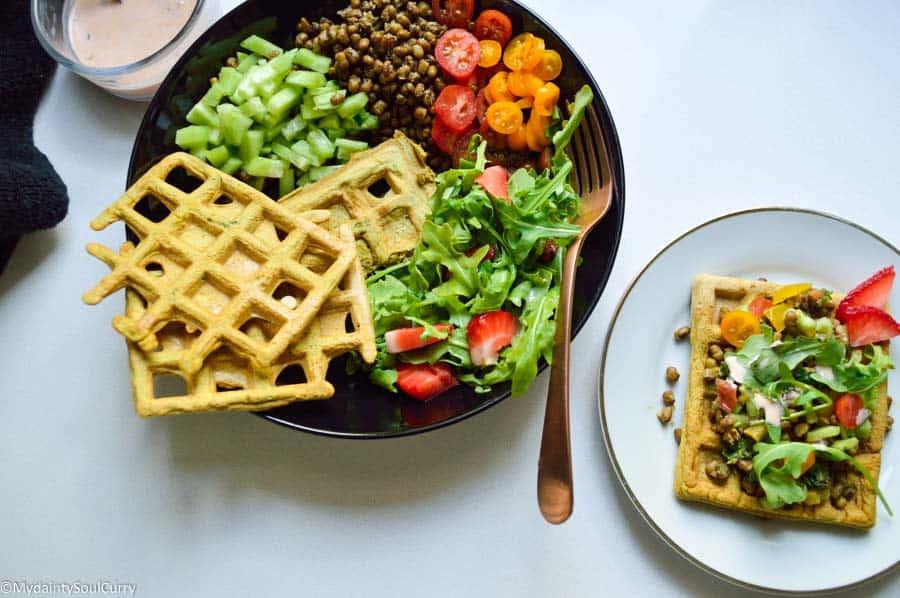 Masala waffle