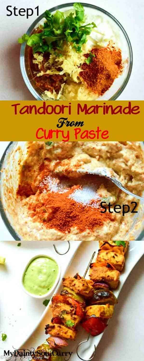 Tandoori marinade from curry paste #easy #grilledfood #vegan