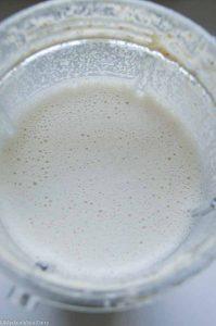 Flaxseed and walnut milk