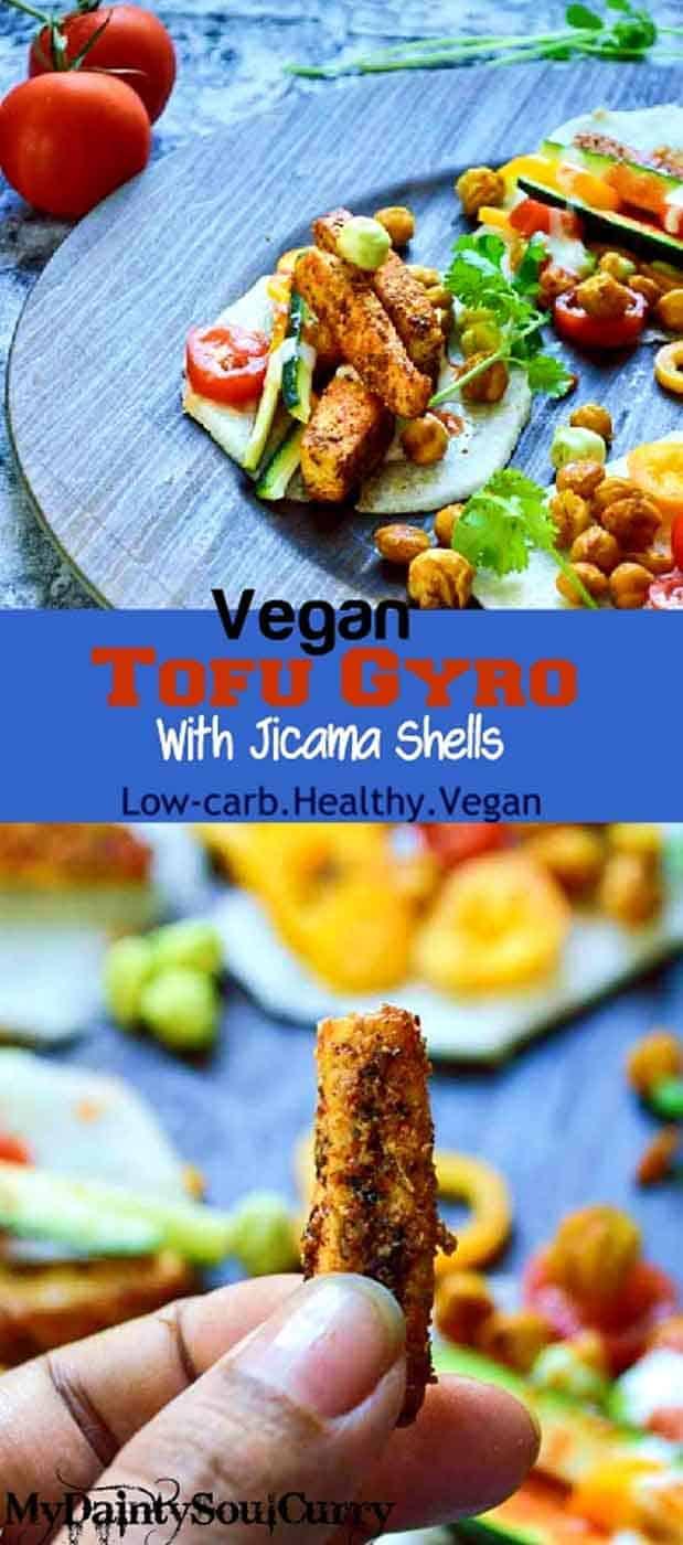 Raw vegan gyro with spiced tofu, fresh veggies and tzatziki. #vegan #healthy