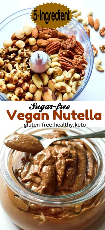 mixed nuts sugar-free nutella #vegan #healthy