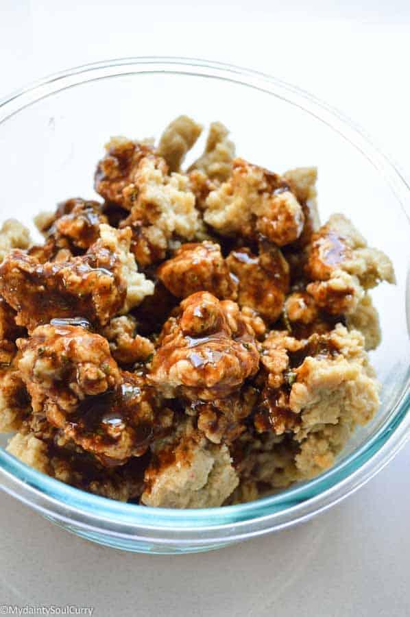 spicy baked vegan popcorn seitan