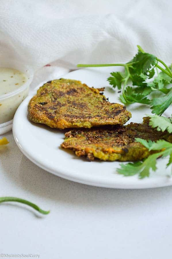 vegan Indian-style pumpkin blossom fritters