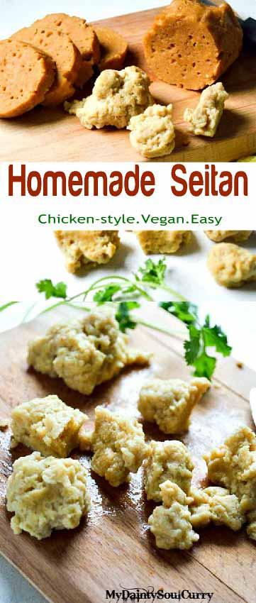 Easiest chicken style seitan #vegan #healthy