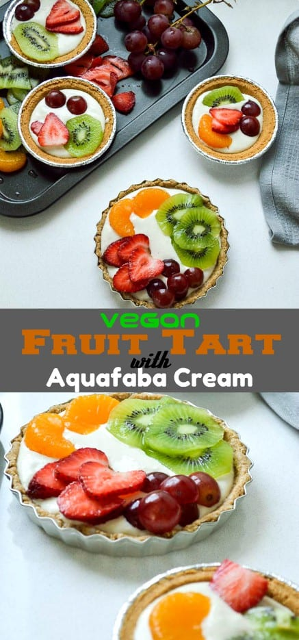 No bake Vegan fruit tart with aquafaba cream #vegan #healthy