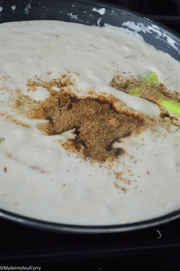 Vegan kalakand using homemade tofu