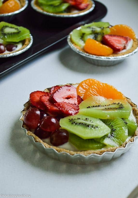 No Bake Vegan Fruit Tart with Aquafaba Cream