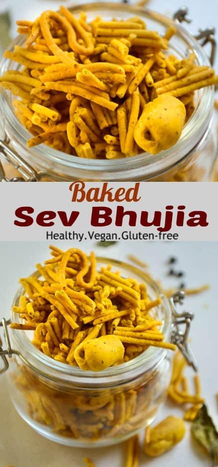 Baked bikaneri sev bhujia #vegan #healthy