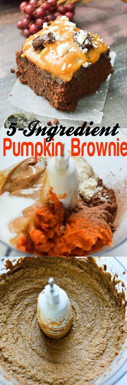 Low-carb Vegan Thanksgiving Pumpkin Brownie #vegan #healthy