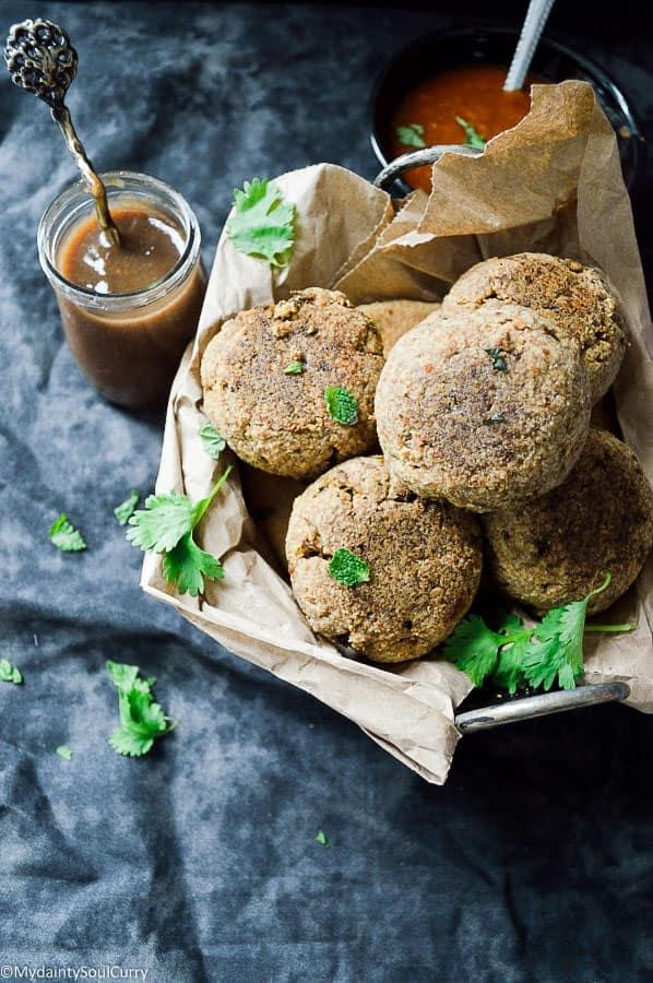 low-carb baked kachori