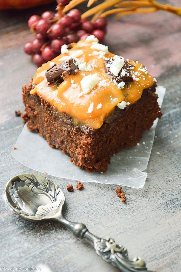 Low-carb Vegan Thanksgiving Pumpkin Brownie