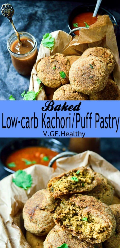 low-carb baked kachori #vegan #healthy
