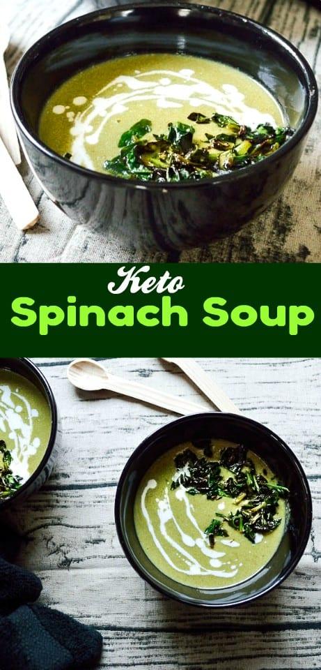keto spinach kadhi #vegan #keto #low-carb