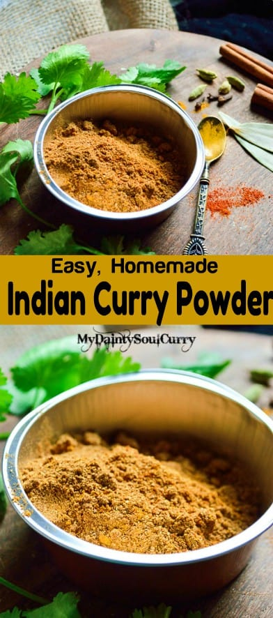 Easy Indian curry masala powder #vegan #curry
