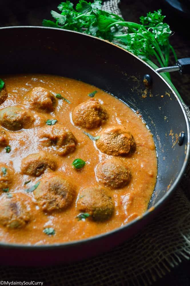 vegan chicken kofta meatball