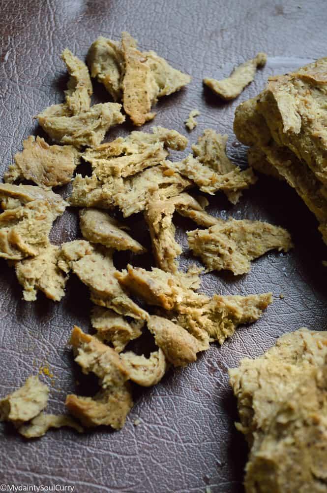 Shredded chicken seitan