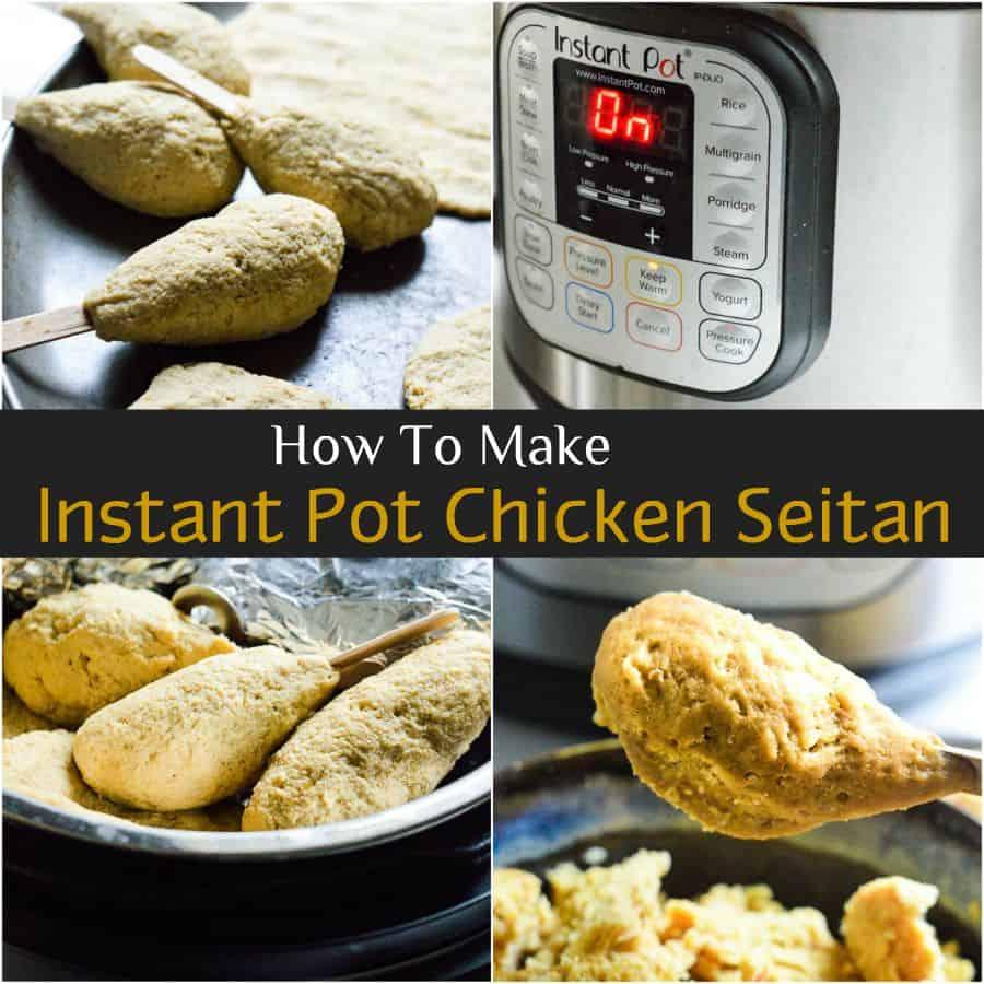 Easy way to make seitan in instant pot