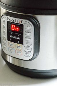 Pressure cooking in instant pot