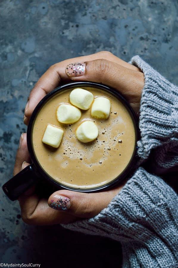Vegan Keto Gingerbread Latte