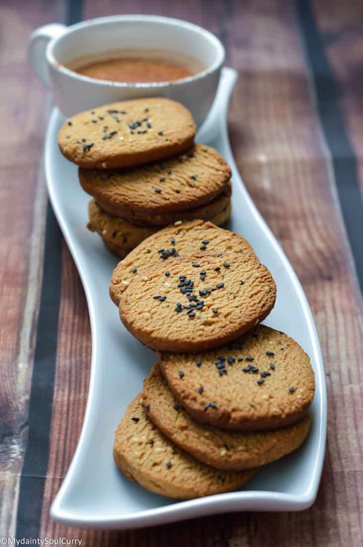 Vegan keto sesame cookies