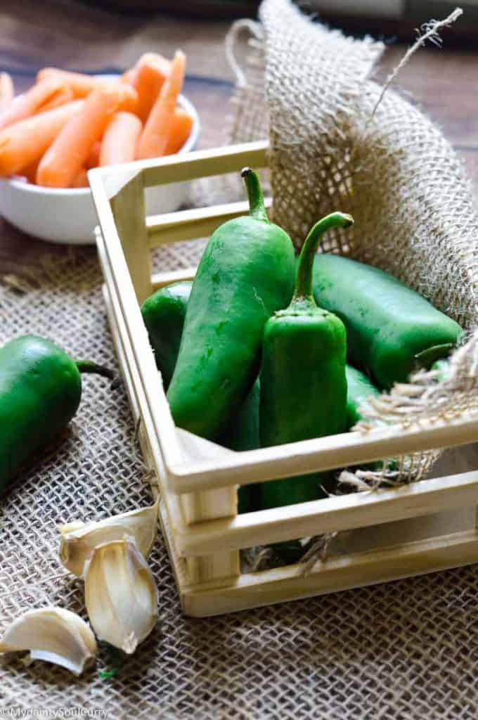 Jalapenos and carrots