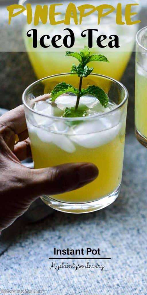 Pineapple iced tea in instant pot