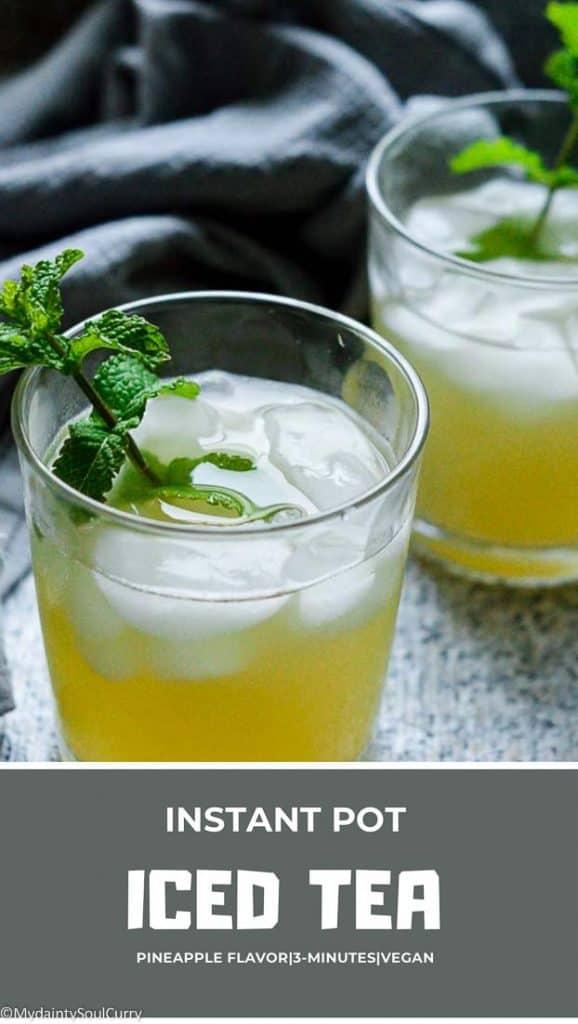 Instant pot quick Pineapple tea