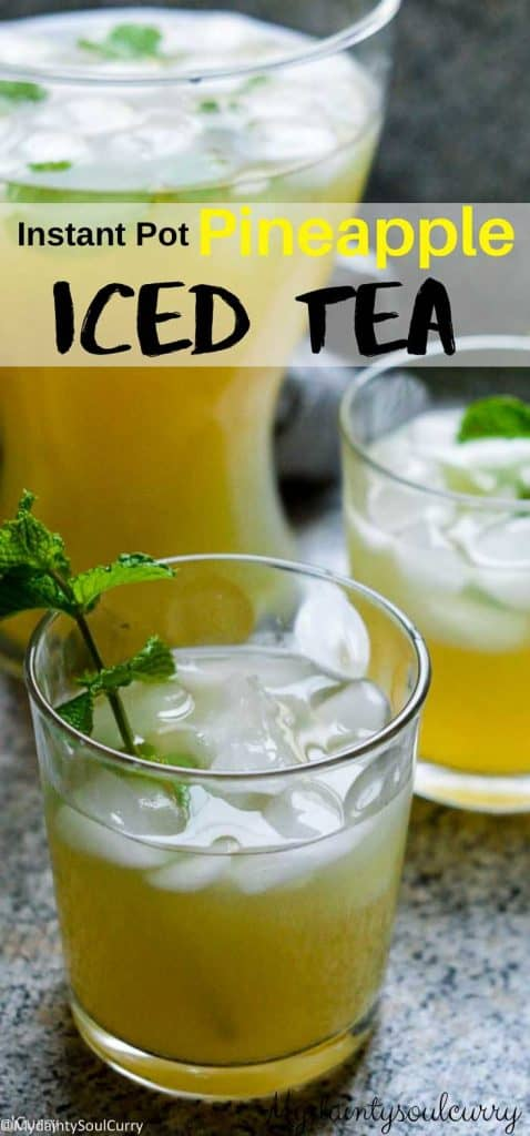 Instant pot fruit Iced Tea