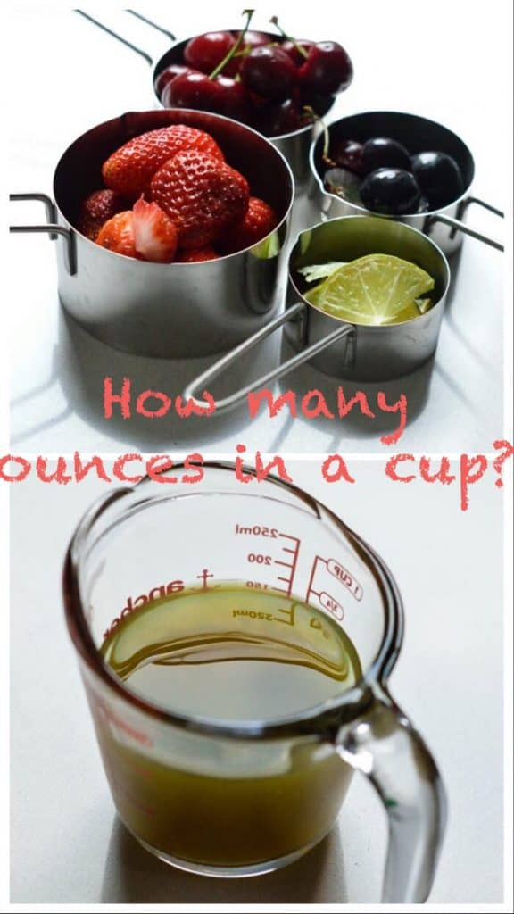 Ounce to cup conversion with easy calculator