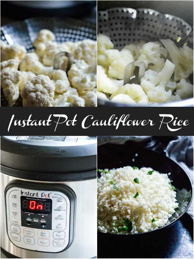 Easy instant pot recipe for quick cauliflower rice