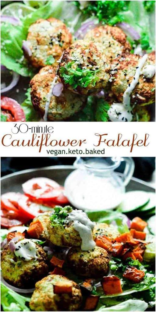 Cauliflower falafel, ready in 30 minutes. It's vegan, keto and #easyrecipe #instantpotrecipes #veganrecipes #veganketo #mydaintysoulcurry