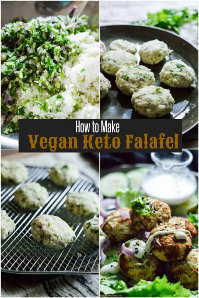 How to make vegan keto falafel