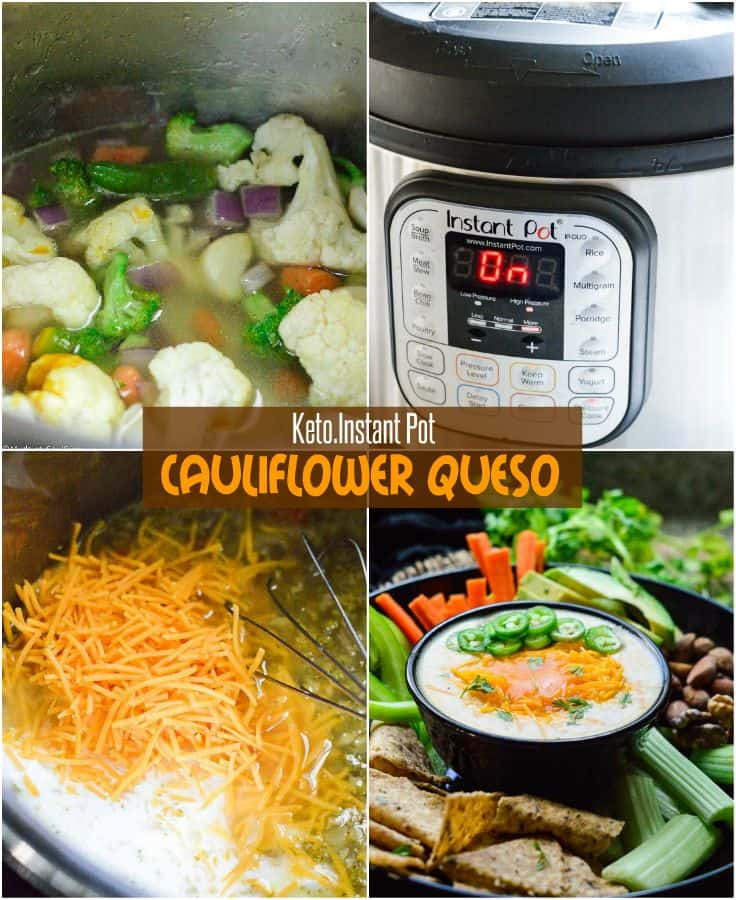Instant pot cauliflower queso
