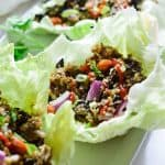 easy cauliflower rice chinese style lettuce wrap