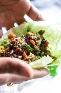 cauliflower lettuce wrap