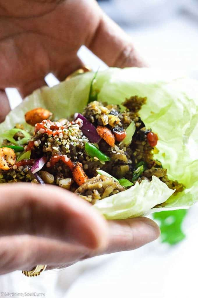 cauliflower lettuce wrap recipe in instant pot