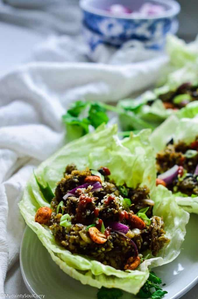 Instant Pot Cauliflower Lettuce Wraps