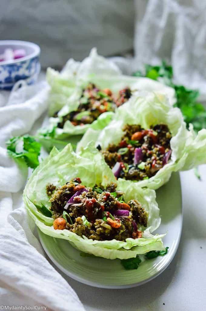 Cauliflower lettuce wrap in instant pot