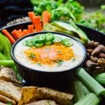 Keto cauliflower queso dip