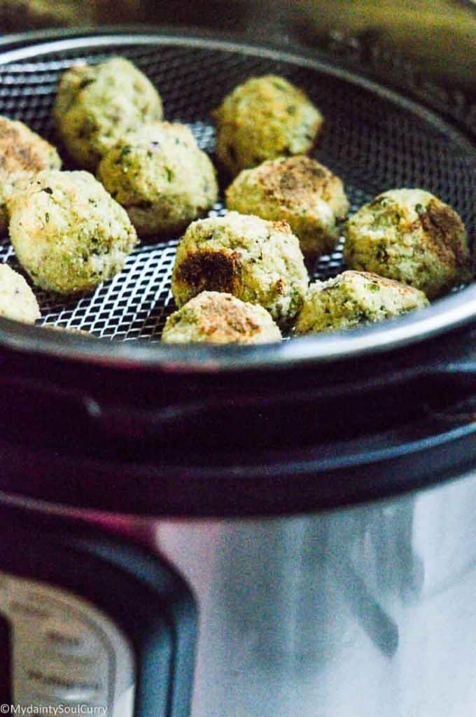 easy vegan keto cauliflower falafels in instantpot