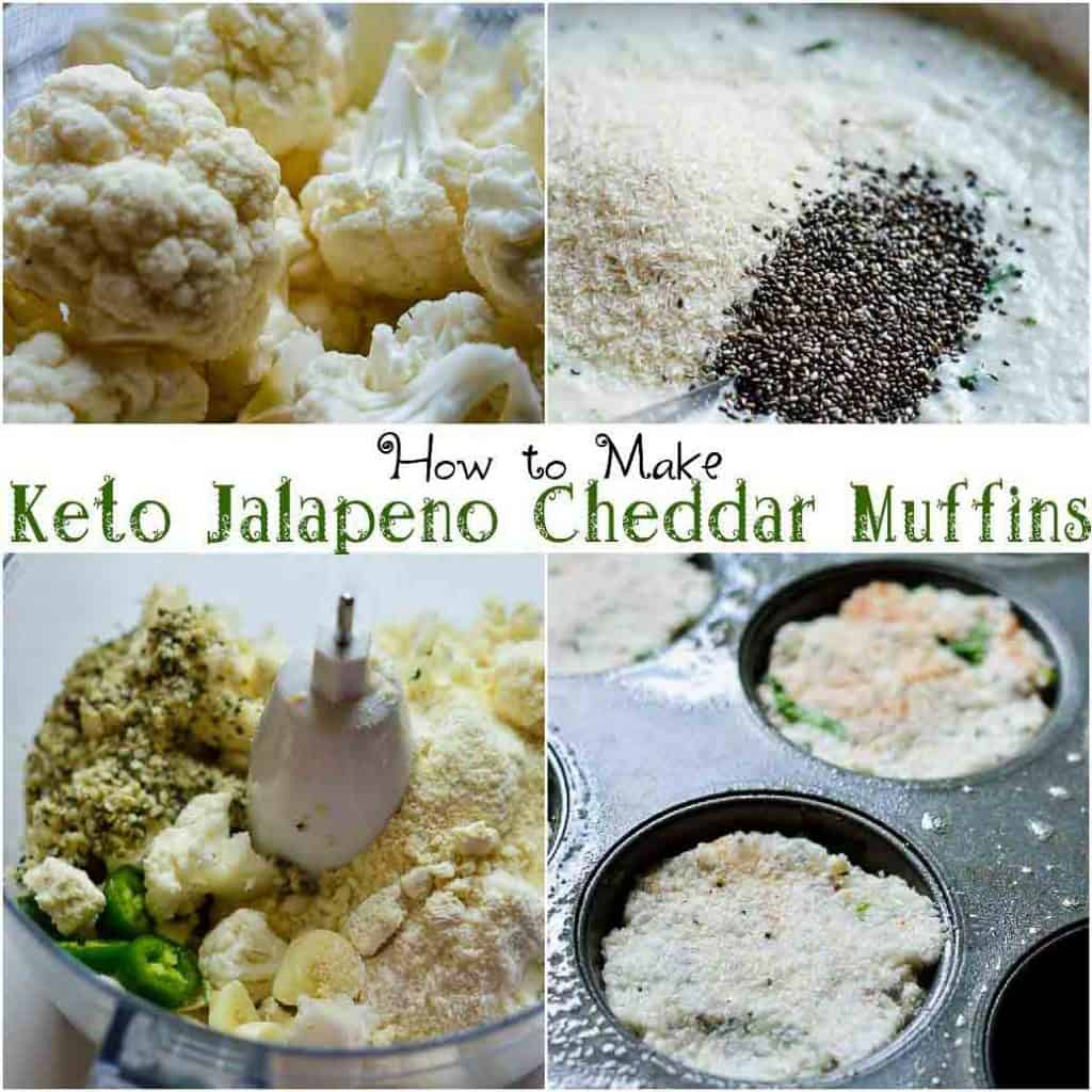 how to make Keto cheddar jalapeno muffins