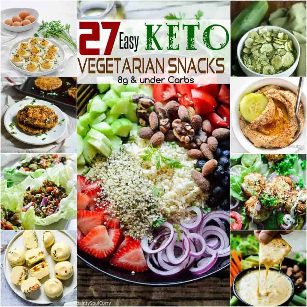 27 keto vegetarain snacks