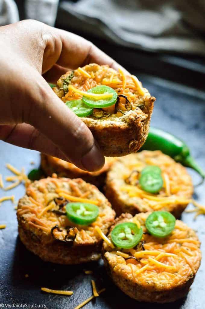 keto jalapeno cheddar muffins
