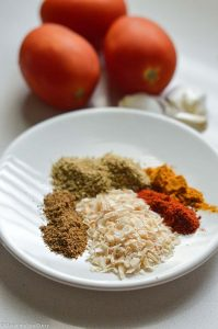 Ingredients for easy Vegan curry