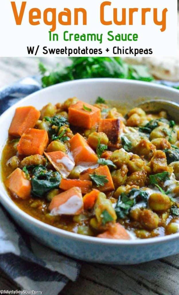 Easy curry recipe made vegan