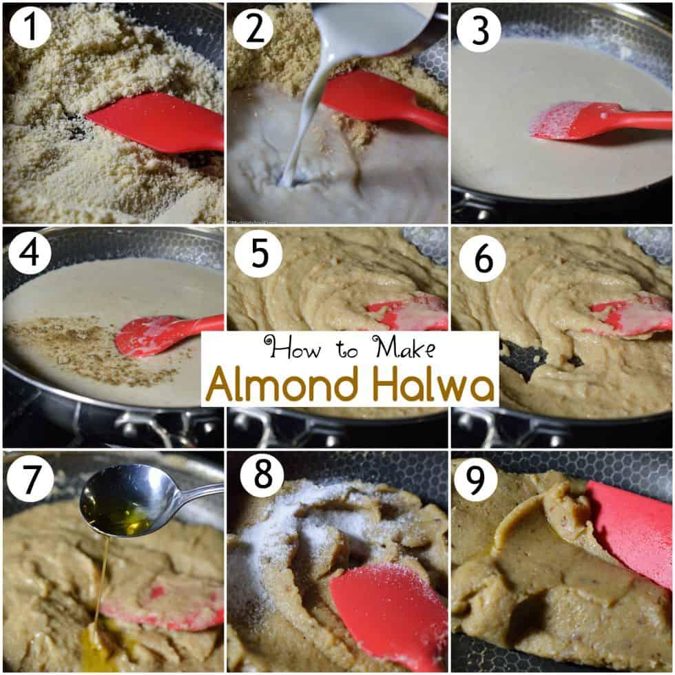 How to make almond halwa